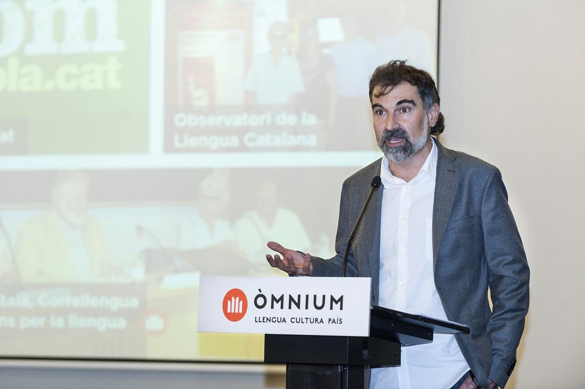 Jordi Cuixart vonÒmnium Culturalbei Assemblea General 2015 (Foto: Òmnium Cultural; CC BY-SA 2.0)