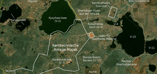 Satellitenkarte von Majak; Gemeinfrei.