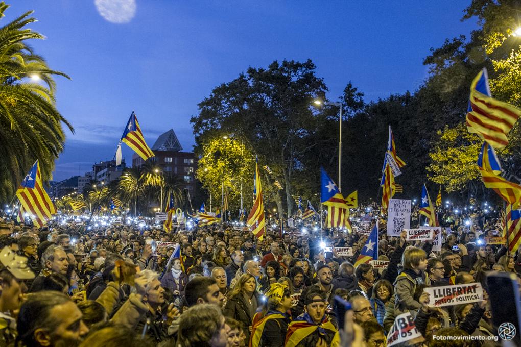 Proteste im November in Katalonien. (Foto: Fotomovimiento(flickr.com);CC BY-NC-ND 2.0)