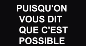 "Dokumentarfilm ""Puisqu'on vous dit que c'est possible"" (Screenshot; Labournet.tv)"