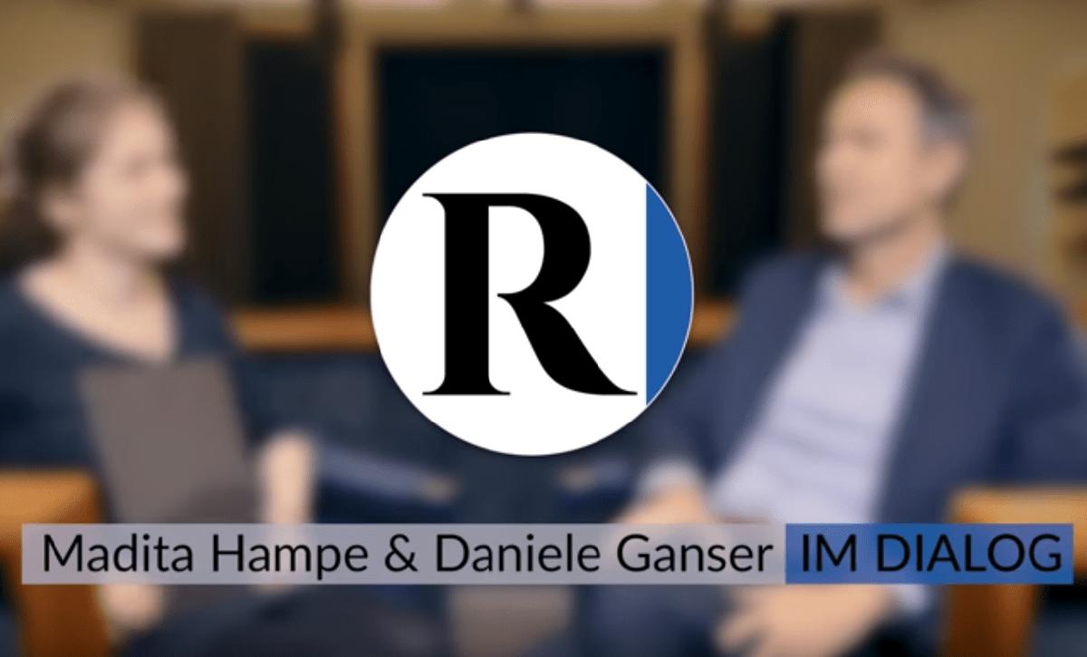 Im Dialog - Rubikon Videoformat. Madita Hampe und Daniele Ganser im Gespräch. (Foto: Screenshot/Rubikon)
