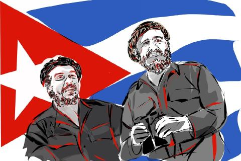 Che und Fidel. (Foto: hafteh7, Pixabay.com;Creative Commons CC0)