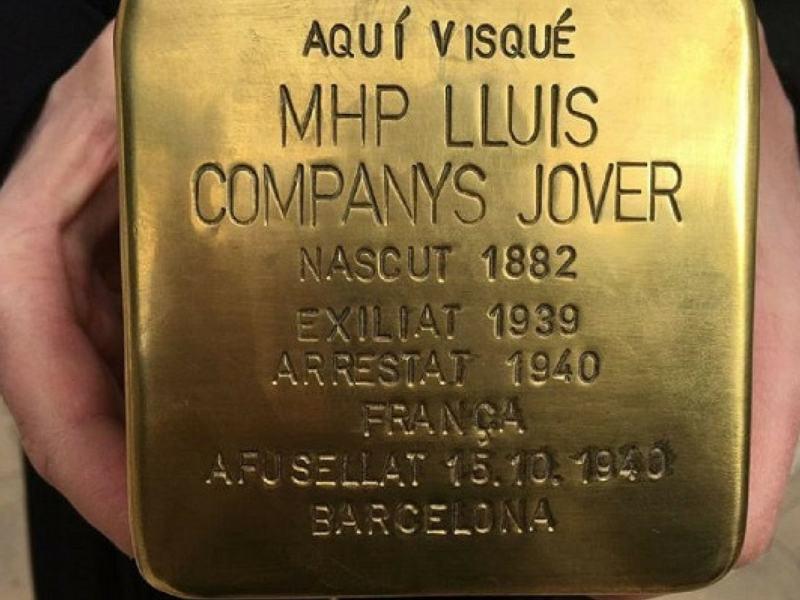 Katalonien: Barcelona strauchelt über den Stolperstein für Lluís Companys