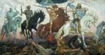 Die vier Reiter der Apocalypse. Gemälde von Viktor Vasnetsov von 1887. (Foto: Wikipedia, gemeinfrei)