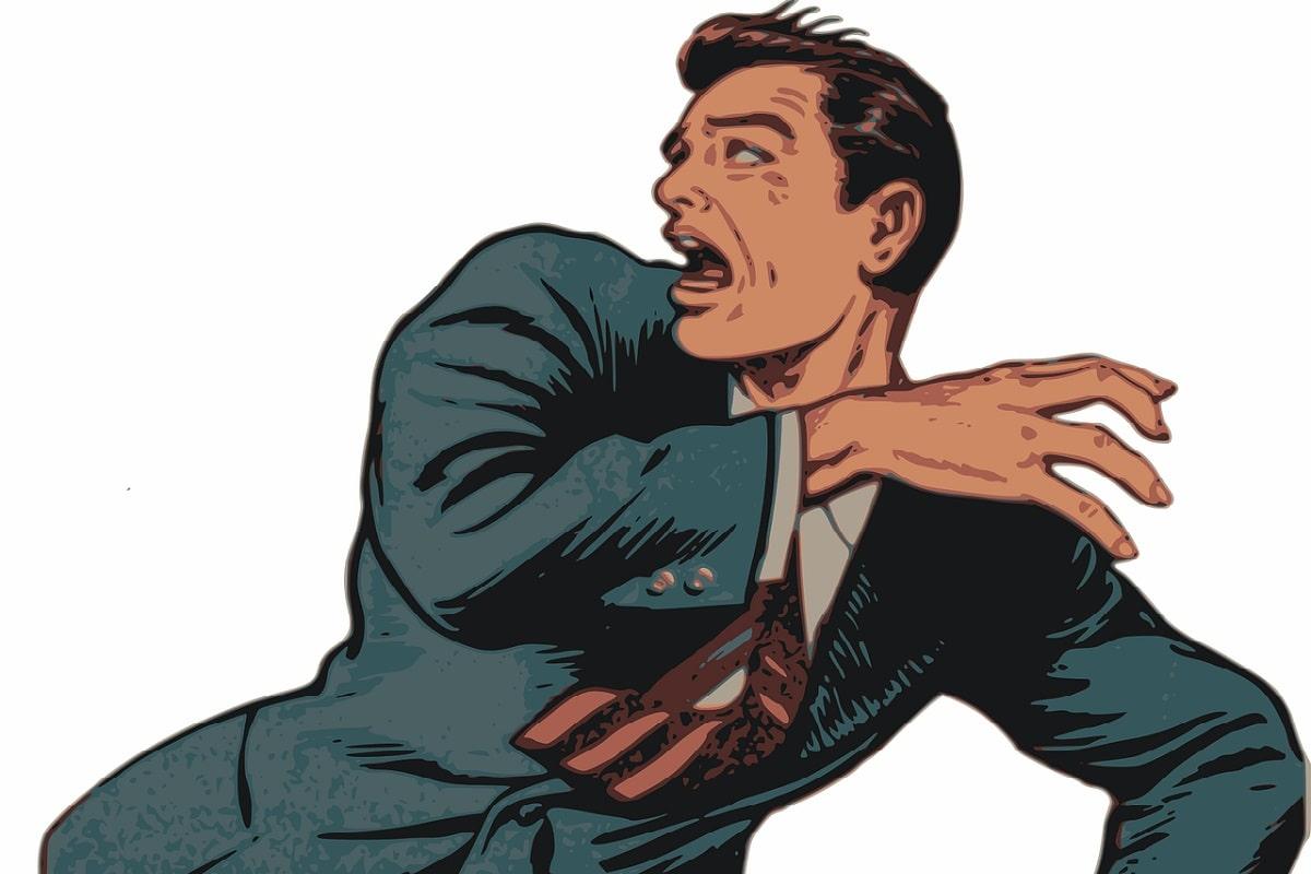 Comicfigur die Angst hat. (Illustration: OpenClipart-Vectors, Pixabay.com,Creative Commons CC0)