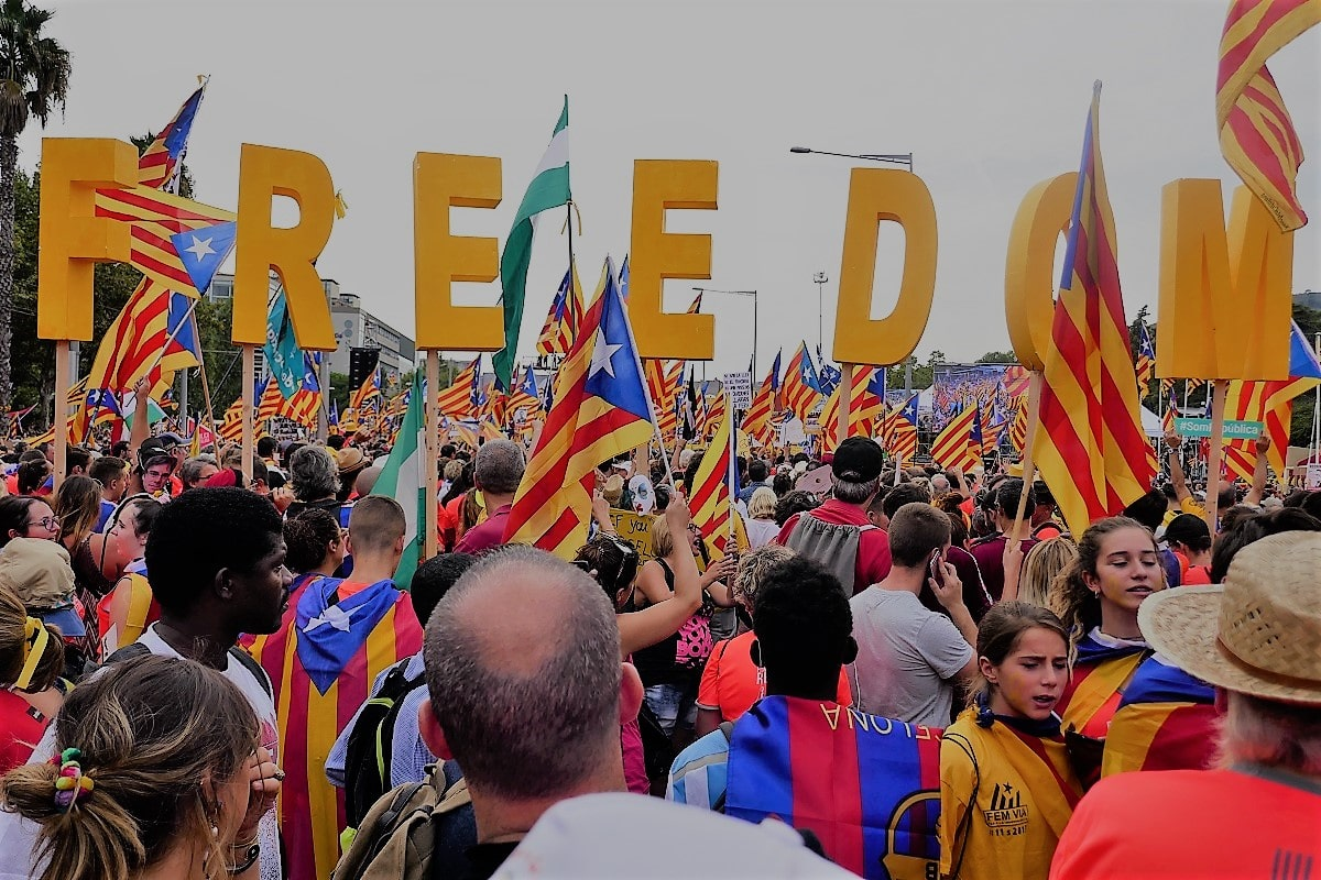 Demonstration in Barcelona am 11. September 2018. (Foto: Krystyna Schreiber)