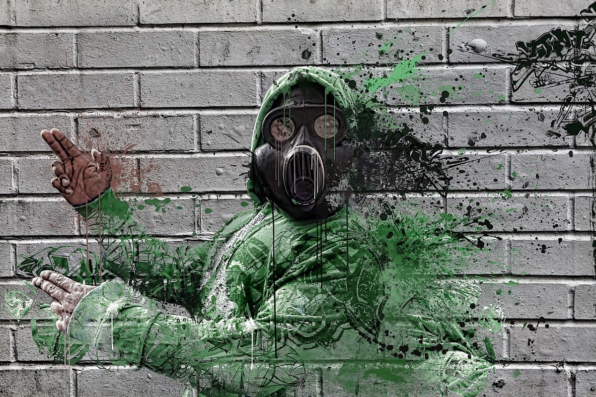 Gasmaske Wall Art. (Foto: Danielle Tunstall, Pixabay.com, Creative Commons CC0)