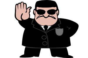 Bodyguard. (Illustration: OpenClipart-Vectors, Pixabay.com, Creative Commons CC0)