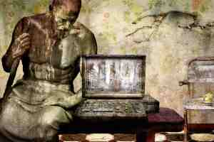 Fantasy mit Computer und Staub. (Illustration: Dorothe, Pixabay.com, Creative Commons CC0)
