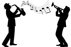 Jazz als verbindendes Element. (Illustration: Mohamed Hassan, Pixabay.com, Creative Commons CC0)
