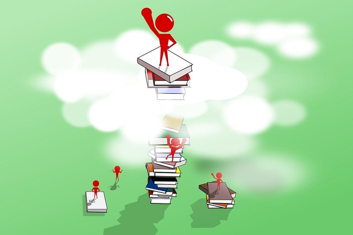 Wachsen durch Bildung und Literatur. (Illustration: Pintera Studio, Pixabay.com, Creative Commons CC0)