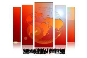 Die Welt als Poster. (Illustration: Geralt, Pixabay.com, Creative Commons CC0)