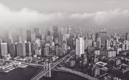 Blick auf die Brooklyn Bridge und New York. (Foto: Jesse Orrico, Unsplash.com)