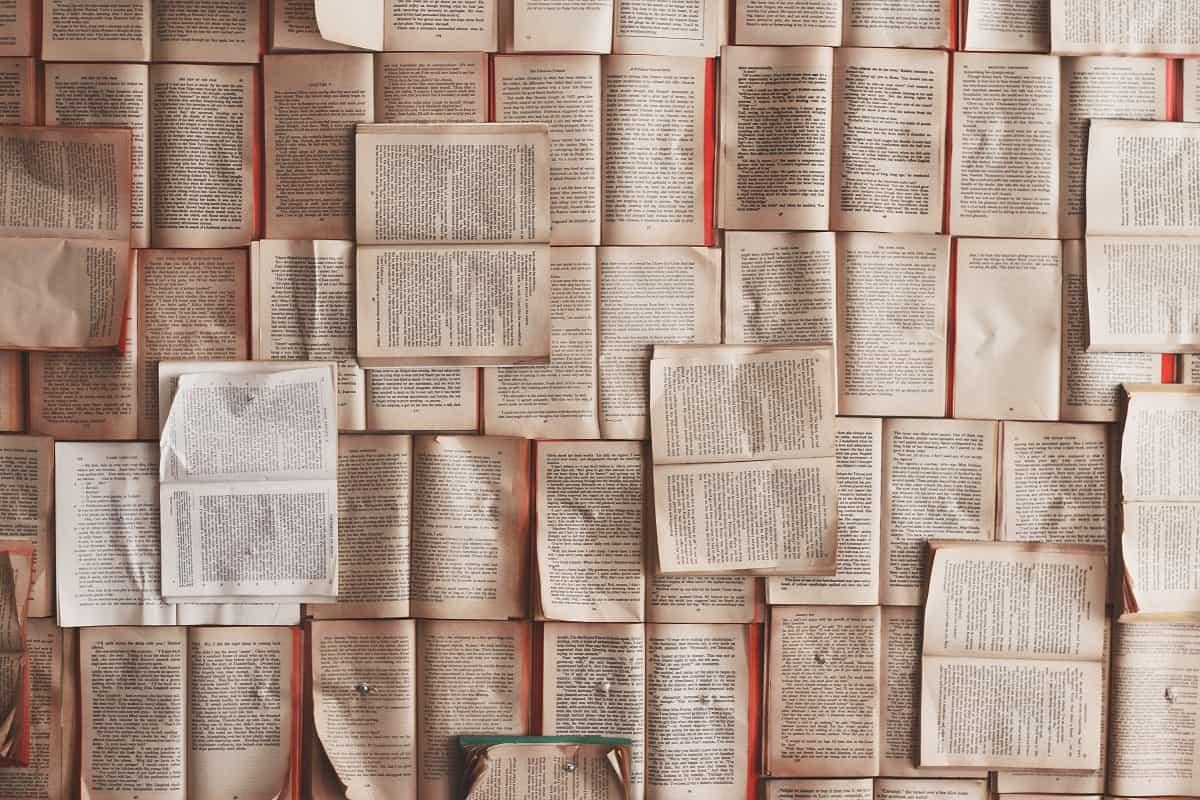 Eine Wand voll mit philosophischen Texten. Vielleicht sind welche von Adorno, Marx und Rousseau dabei. (Foto: Patrick Tomasso, Unsplash.com)