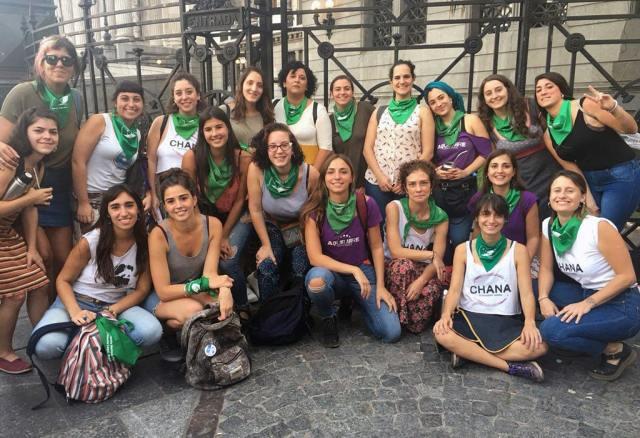 Grüner Dienstag auf dem Nationalkongress im April 2018. (Foto: Rocío Escobar)