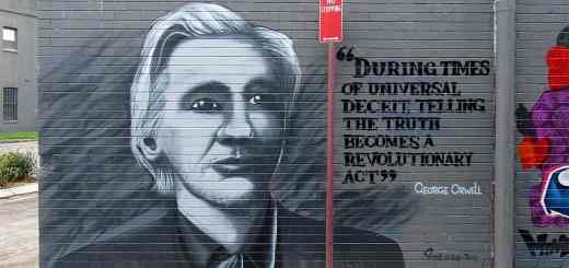Juian Assange als Graffiti. (Foto: Newtown grafitti, Flickr.com- Lizenz Attribution 4.0 International- CC BY 4.0)