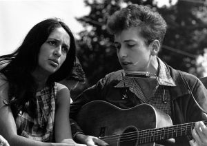 Rowland Scherman - U.S. National Archives and Records Administration; Bob Dylan mit Joan Baez March on Washington for Jobs and Freedom, 28. August 1963; Public Domain