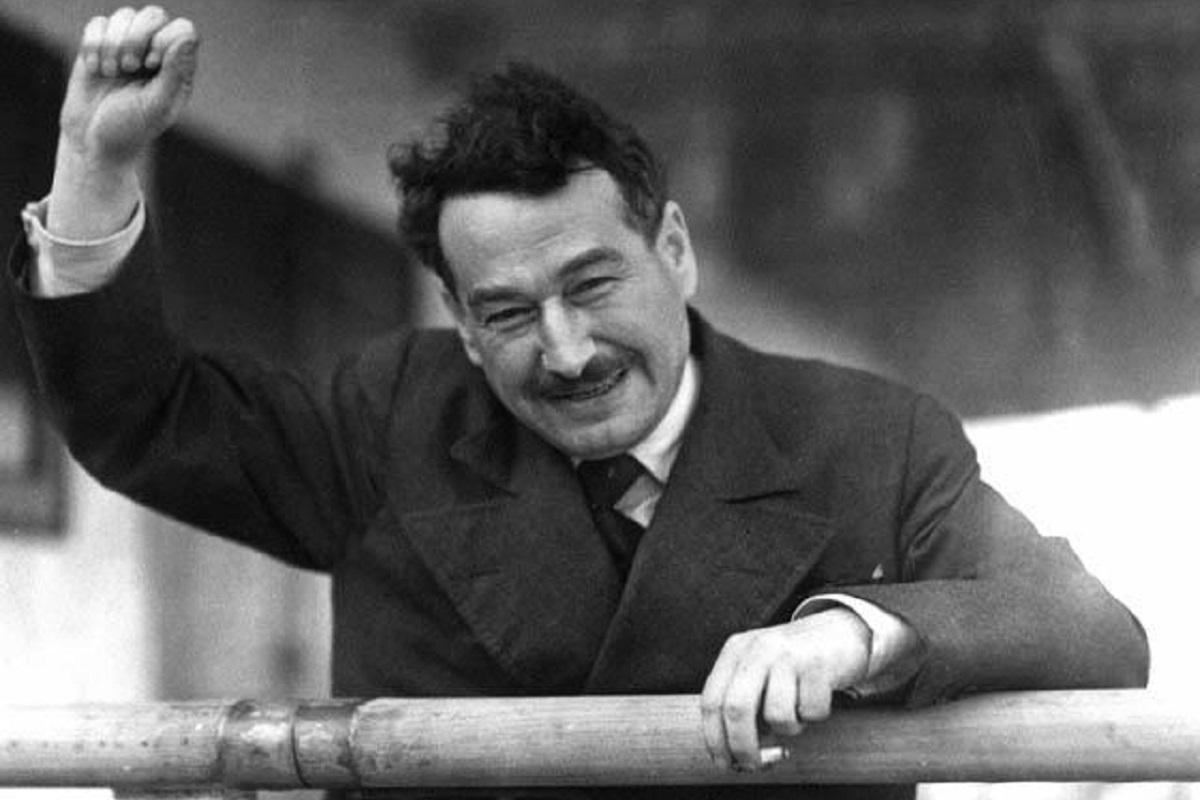 """""""Nichts ist erregender als die Wahrheit!"""" Egon Erwin Kisch in Melbourne 1934. (Foto: Sam Hood, Wikipedia, Gemeinfrei.)"""