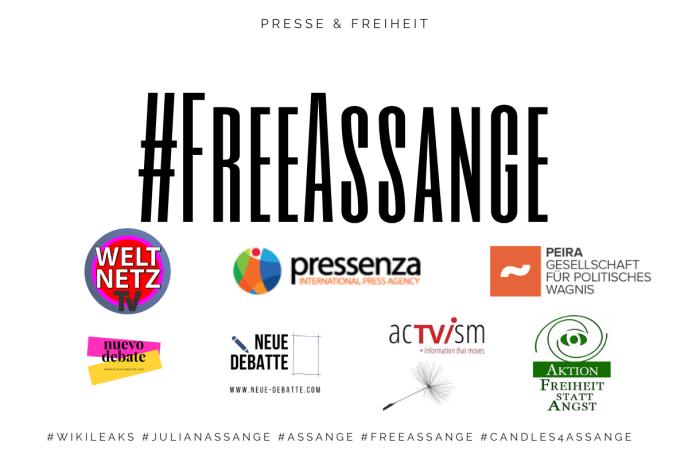 Free Julian Assange (Grafik: Neue Debatte)