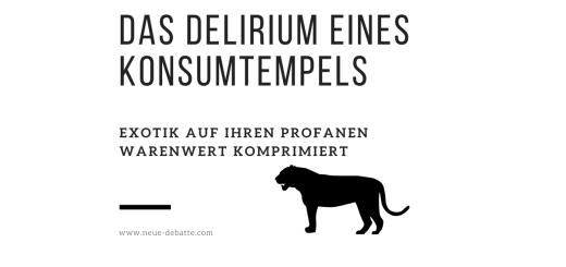 Kosmopolitismus, das Auge des Tigers und der globalisierte Warenmarkt. (Illustration: Neue Debatte)