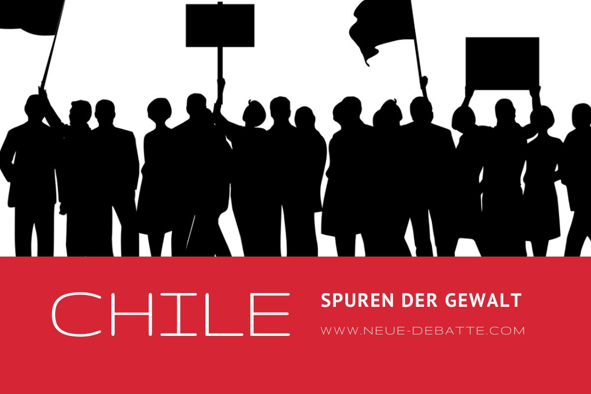 Der Schmerz, die Opfer und die Gewalt in Chile. (Illustration: Neue Debatte)