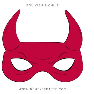Fantômas des weißen Mannes wütet in Bolivien und Chile. (Illustration: Neue Debatte)