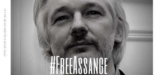 Freiheit für Julian Assange Wahrhheit lässt sich nicht einsperren. Foto David G Silvers, CC BY-SA 2.0 (Grafik: Neue Debatte)