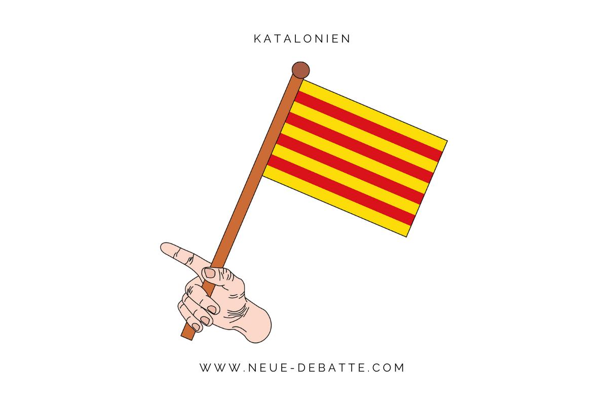 Interview mit der Delegierten Krystyna Schreiber über die politische Situation im Katalonienkonflikt. (Illustration: Neue Debatte mit Material von Pixabay.com)