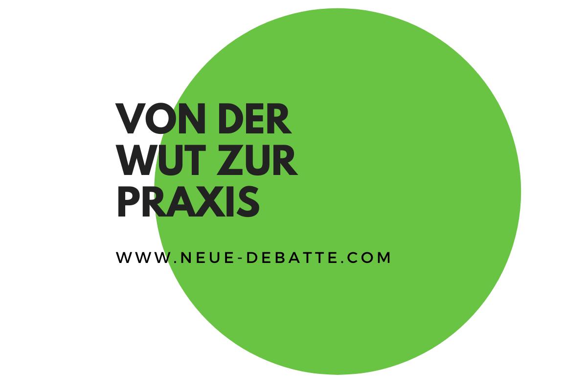 Luisa Neubauer hat den Verlockungen vom Siemens-Vertreter widerstanden. (Illustration: Neue Debatte)