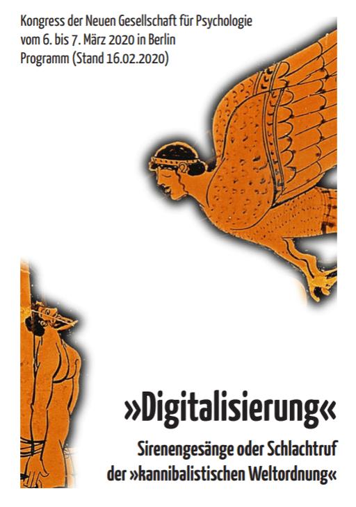 Digitalisierung Programm zum Kongress der Neuen Gesellschaft für Psychologie (NGfP) 2020