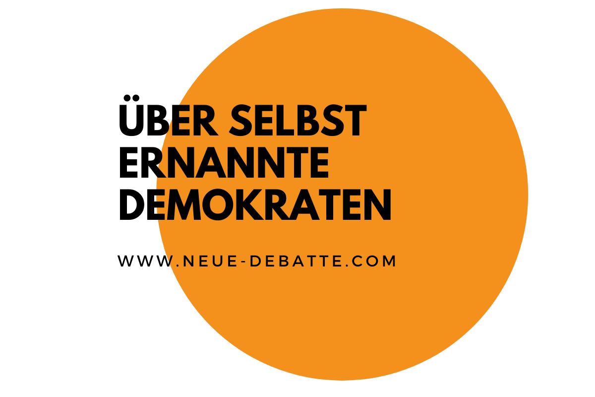 Erfurt zeigt die Machtbesessenheit der Parteien auf. (Illustration: Neue Debatte)