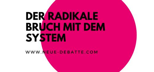 """In """"Vor der Revolution"""" behandelt Robert Foltin den radikalen Bruch mit dem System. (Illustration: Neue Debatte)"""