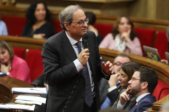 Als Präsident von Katalonien tritt Quim Torra für die unabhängigkeit von Spanien ein. (Foto: Ruben Moreno)