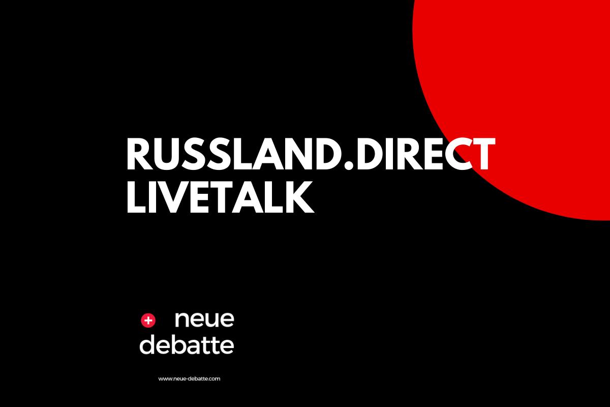 Russland.direct Livetalk am Sonntag, 28. Juni 2020, um 17 Uhr. Thema: Die USA und die Weltpolitik. (Illustration: Neue Debatte)