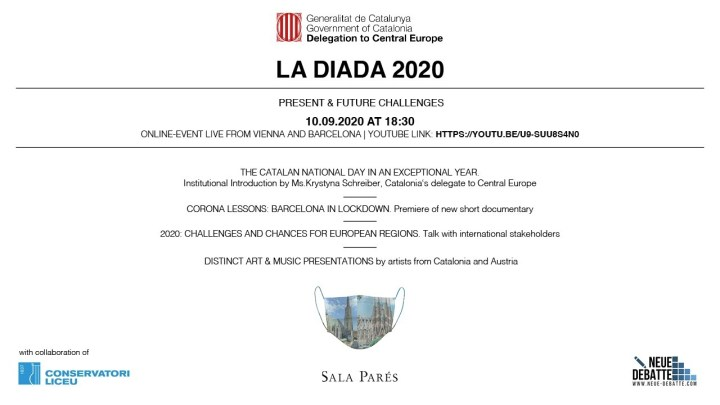 La Diada 2020 Event Illustration Delegation of the Government of Catalonia to Central Europe (Illustration: Delegation)