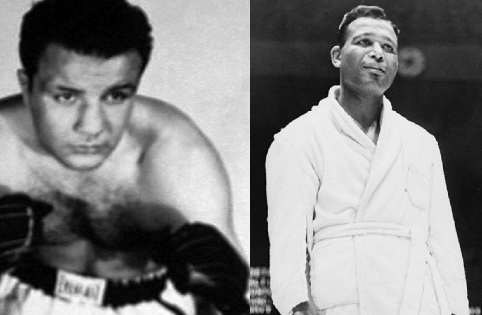 Robert Lowry greift in Tag Fremder Elemente aus dem Leben der Boxer Jake LaMotta und Sugar Ray Robinson auf. (Illustration: Neue Debatte)