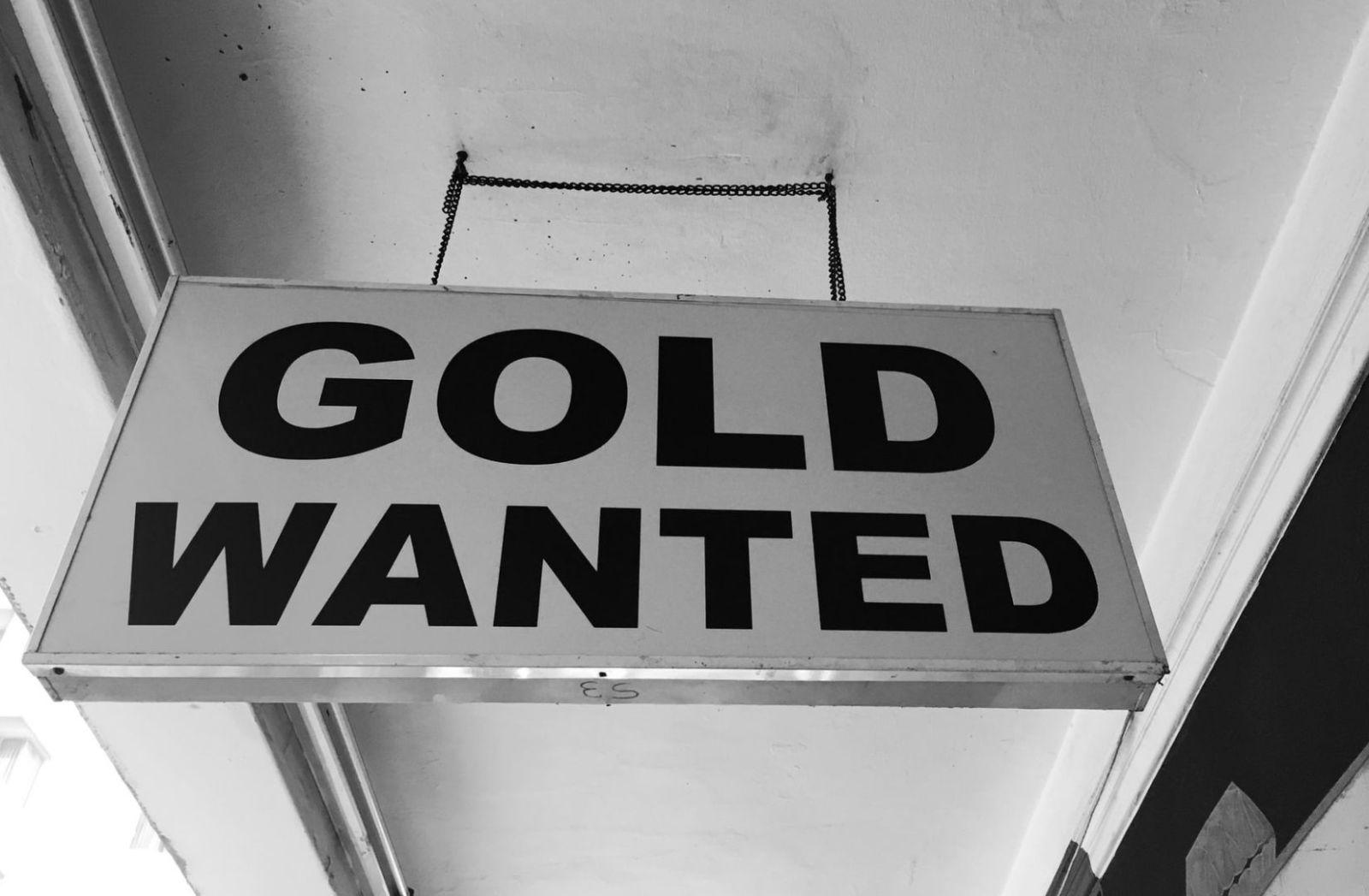 Gold gesucht. Schild in Johannesburg, Südafrika. (Foto: Hennie Stander, Unsplash.com)