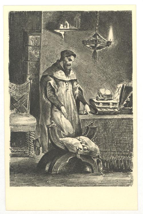 Faust in seinem Studierzimmer, von Eugène Delacroix 1827. (Foto: gemeinfrei)