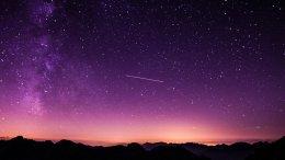 Sternenhimmel mit Sternschnuppe, Laurentius