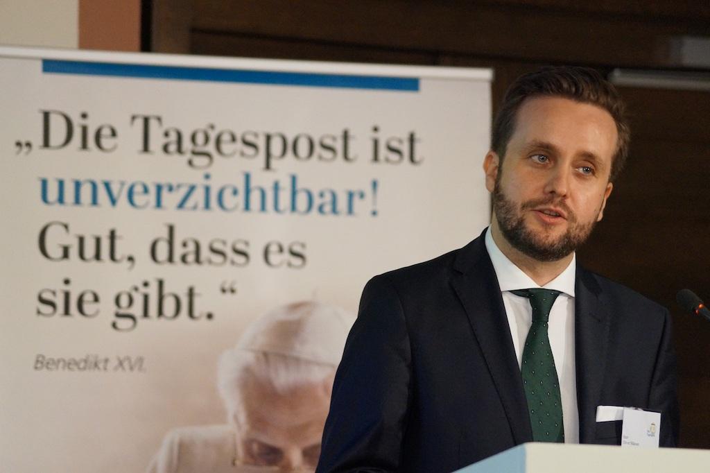 """Wechsel an der Spitze der in Würzburg erscheinenden katholischen Wochenzeitung """"Die Tagespost"""": Chefredakteur Oliver Maksan verlässt das Blatt auf eigenen Wunsch zum 30. Juni"""