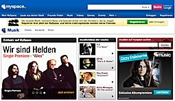 <em>Medienausgaben für 2009 wurden größtenteils in die Einführung von MySpace Music investiert.</em>