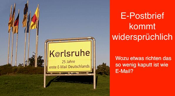 E Postbrief Kommt Widersprüchlich Neue Klassische Werbung