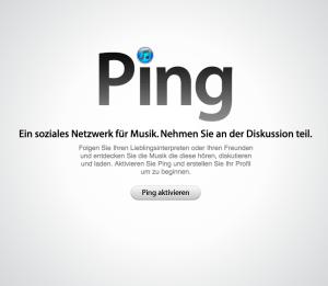 Ping aktivieren in Apple's iTunes