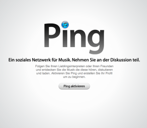 Ping aktivieren in Apple's iTunes