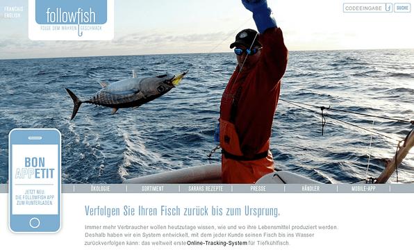 Followfish landing page
