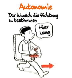 Autonomie: Der Wunsch die Richtung zu bestimmen.
