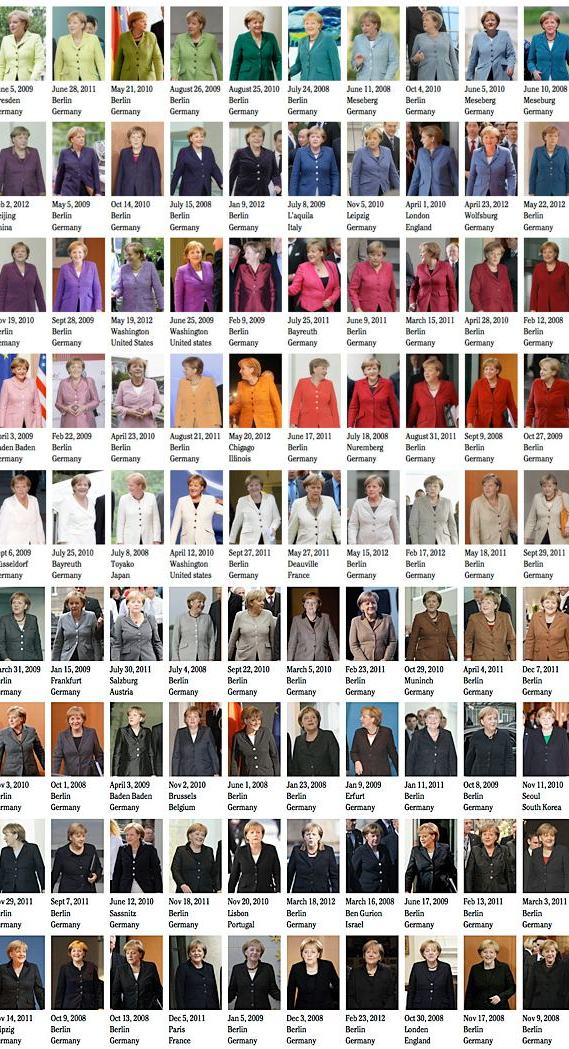 Angela Merkel Pantone Farbskala von Noortje van Eekelen