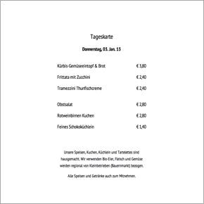 Tageskarte Do 3.1.13