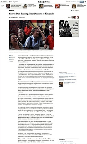 Redesign of online edition