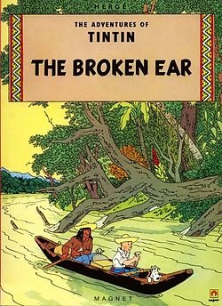 Tintin The broken ear